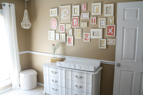 LilacsNDreams: DIY Framed Letters Numbers Names Words