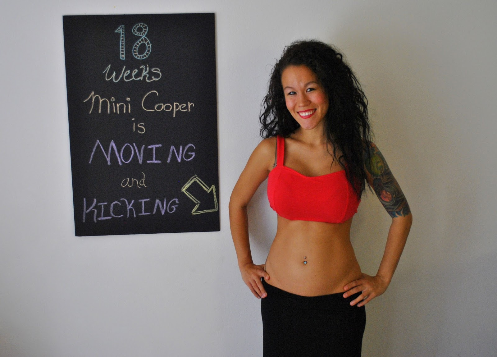 18 Weeks Pregnancy Chalkboard Update