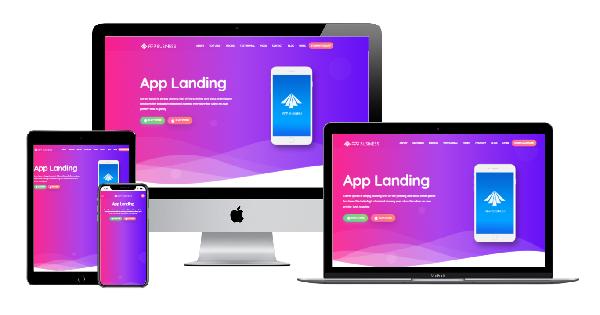 Template Blogspot Landing Premium App Business