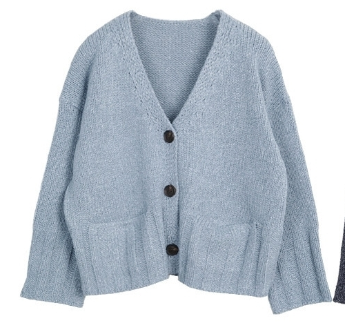 Thick Rib Accent Buttoned Cardigan