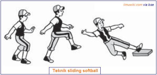 Teknik sliding permainan softball
