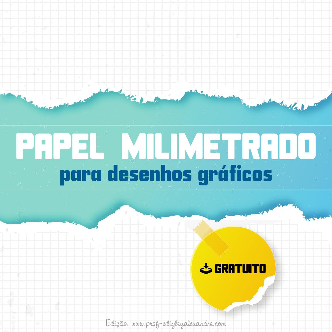 Papel milimetrado em PDF para desenhos gráficos