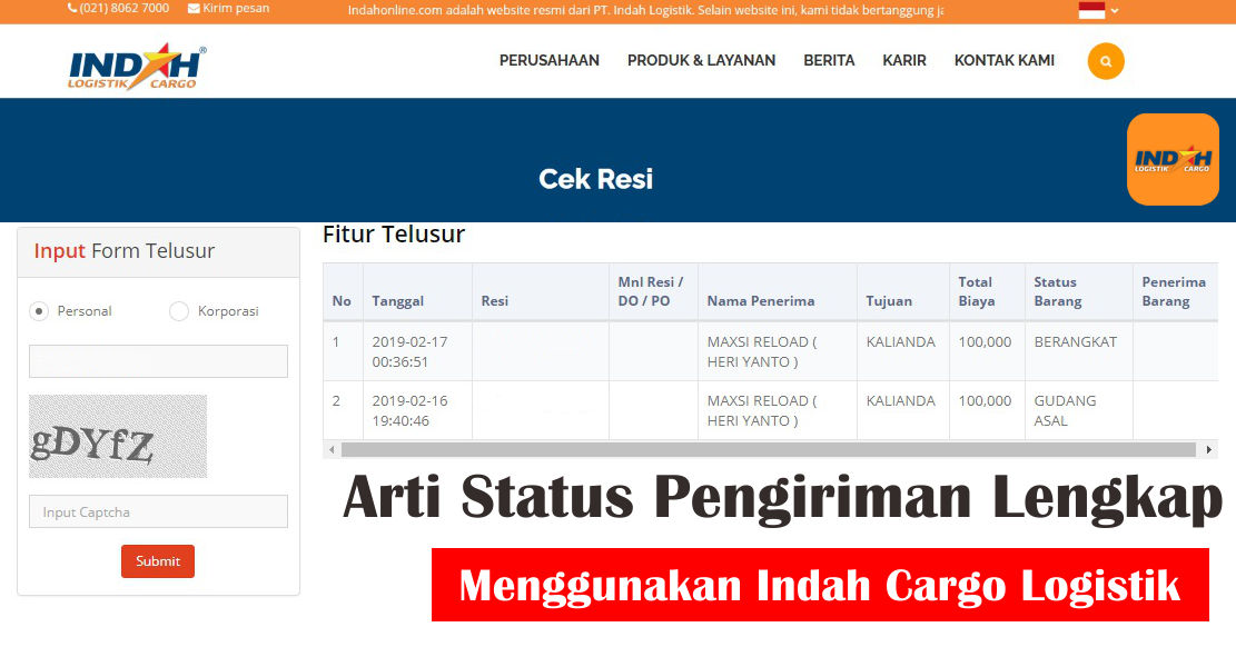 Arti Manifest Asal Indah Cargo Dan Status Pengiriman Indah Cargo Logistik