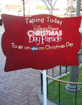 Christmas Day Parade Taping 2011- sign