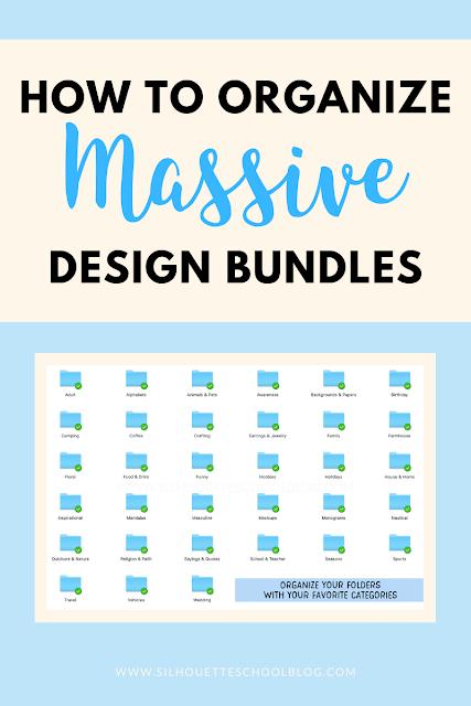 silhouette 101, silhouette america blog, design bundles, organize, so fontsy