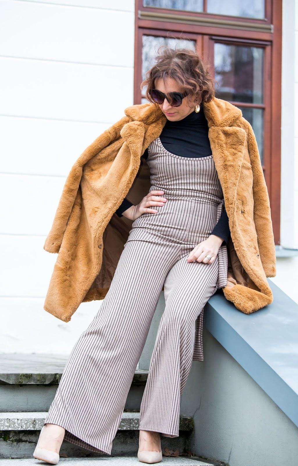 Adriana Style Blog, blog modowy Puławy, Bodycon Dress, Fashion, FemmeLuxeFinery Co-ords, FemmeLuxeFinery Dress, FemmeLuxeFinery Playsuit, Kombinezon, Playsuit, Sztuczne Futro Bonpix, Wiosenna Stylizacja