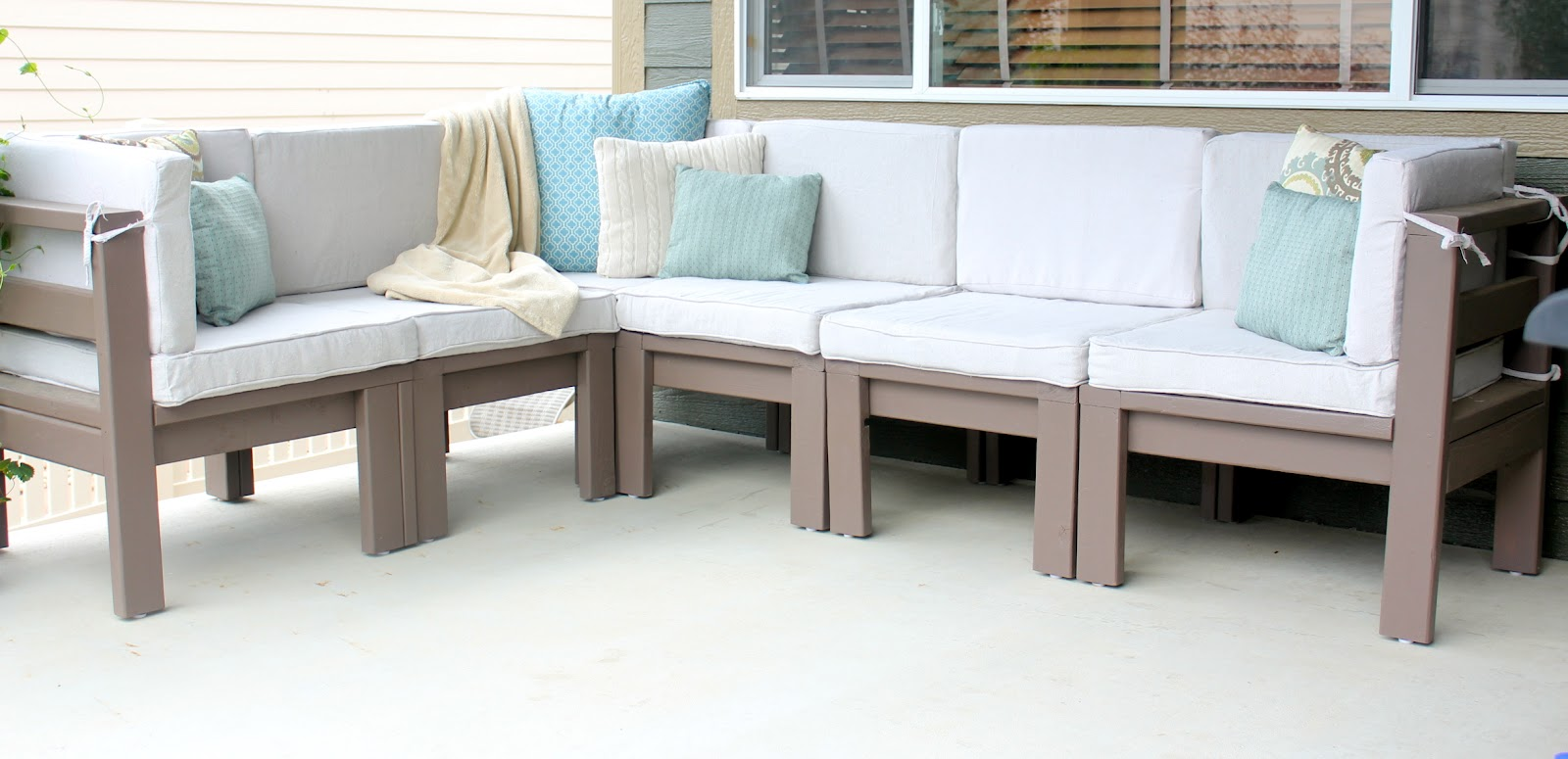 2nd Story Sewing Diy Outdoor Sectional