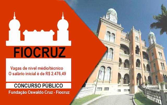 Concurso Fiocruz - Fundação Oswaldo Cruz