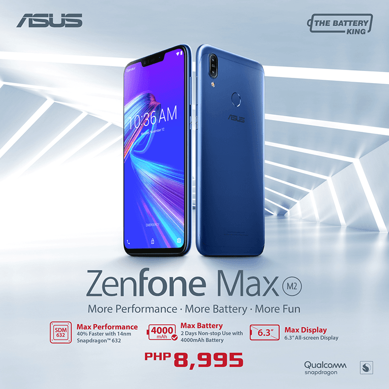 ASUS ZenFone Max M2 with Snapdragon 632 arrives in the Philippines