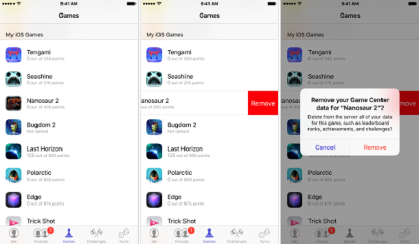 Remove game's from Game Center in iPhone & iPad