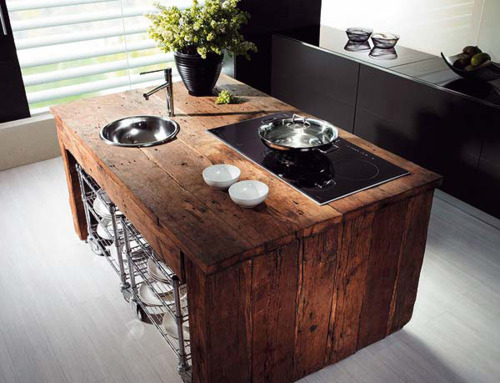 Old Barn Wood Kitchen Island Color Outside The Lines: Kitchen Inspiration Month: Day 26
