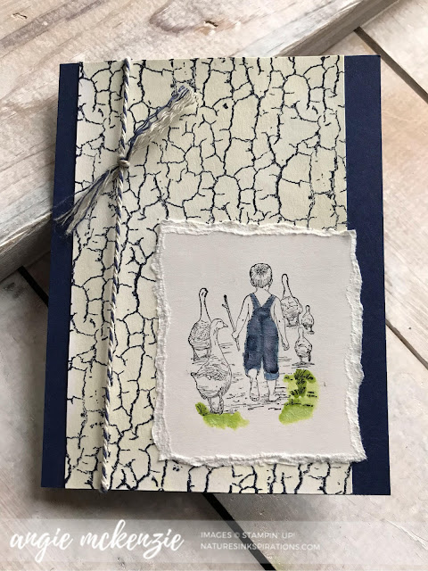 Soft Watercolor Heartland for #GDP193 | Heartland, Crackle Paint by Stampin' Up!® | Nature's INKspirations by Angie McKenzie
