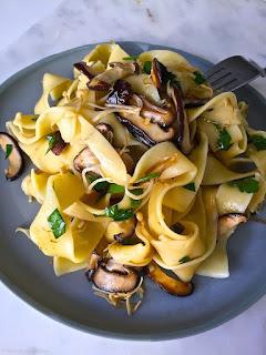 Mushroom Pasta and Mushroom Noodles