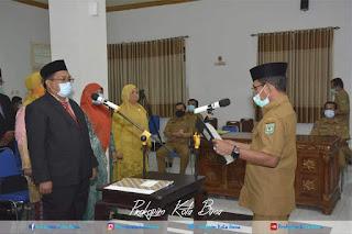 Walikota Bima Lantik Asisten Administrasi Umum dan 20 Orang Kepala Sekolah