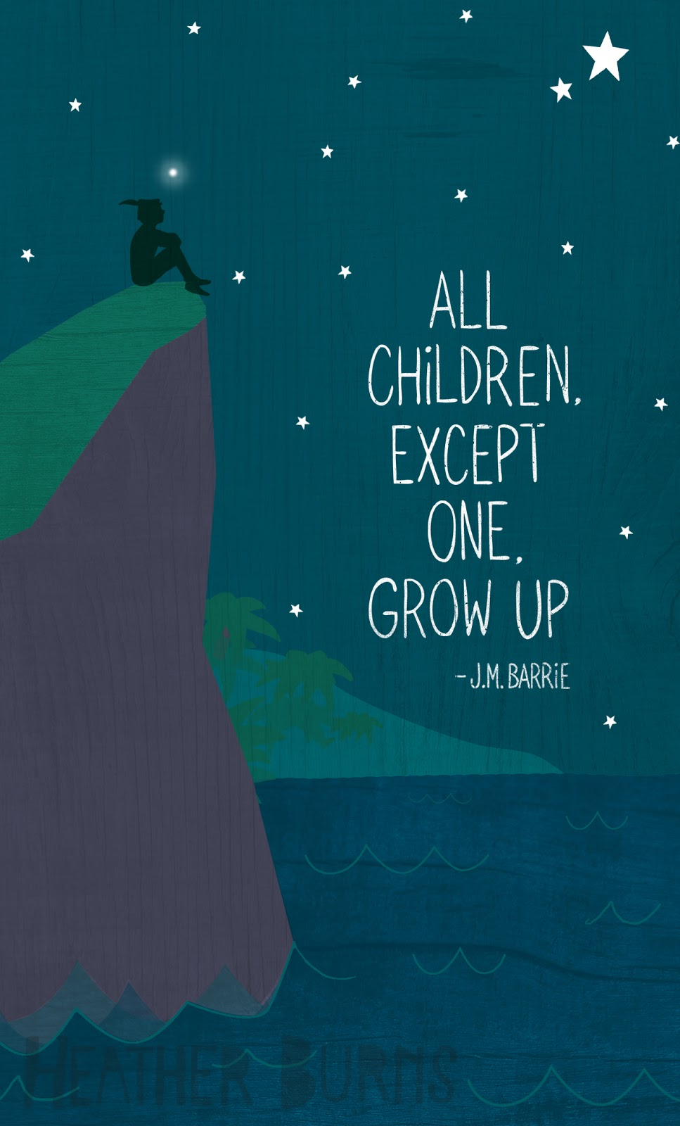 Heather Burns Illustration All Children Except One Grow Up