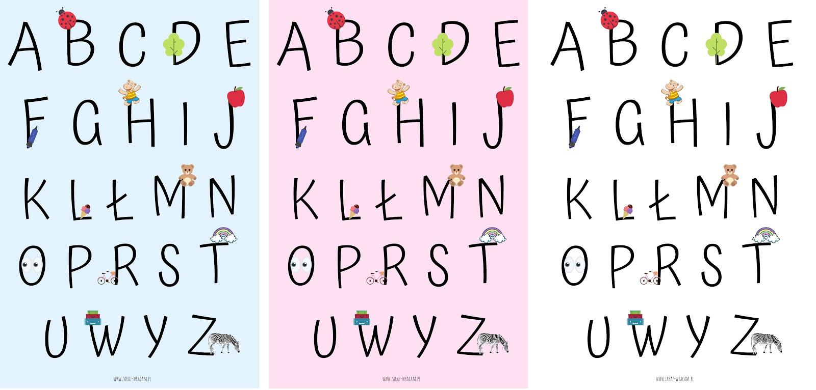 alfabet plakaty