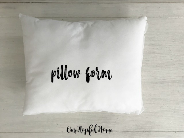 "white 12"" by 18"" pillow form"