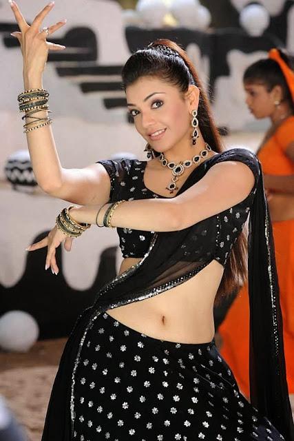 Kajal Agarwal in Black Dresses, Black Churidar, Suit and Sarees 2014-15