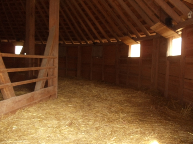 Interior of the Treading Barn