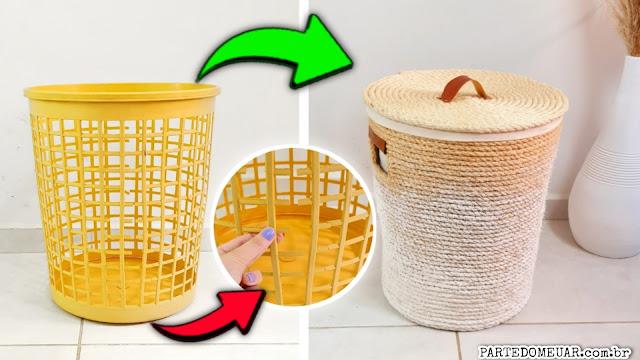 ideias com cesto de roupas