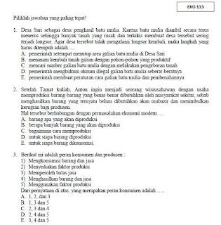 Soal Soal USBN Ekonomi SMA MA