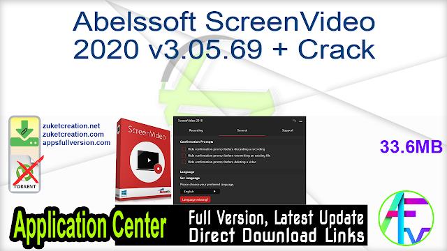 Abelssoft ScreenVideo 2020 v3.05.69 + Crack