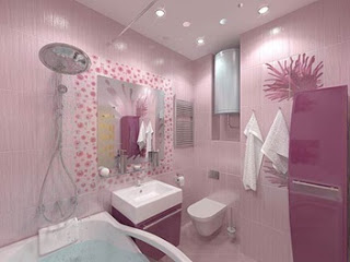 Decorar baño rosa