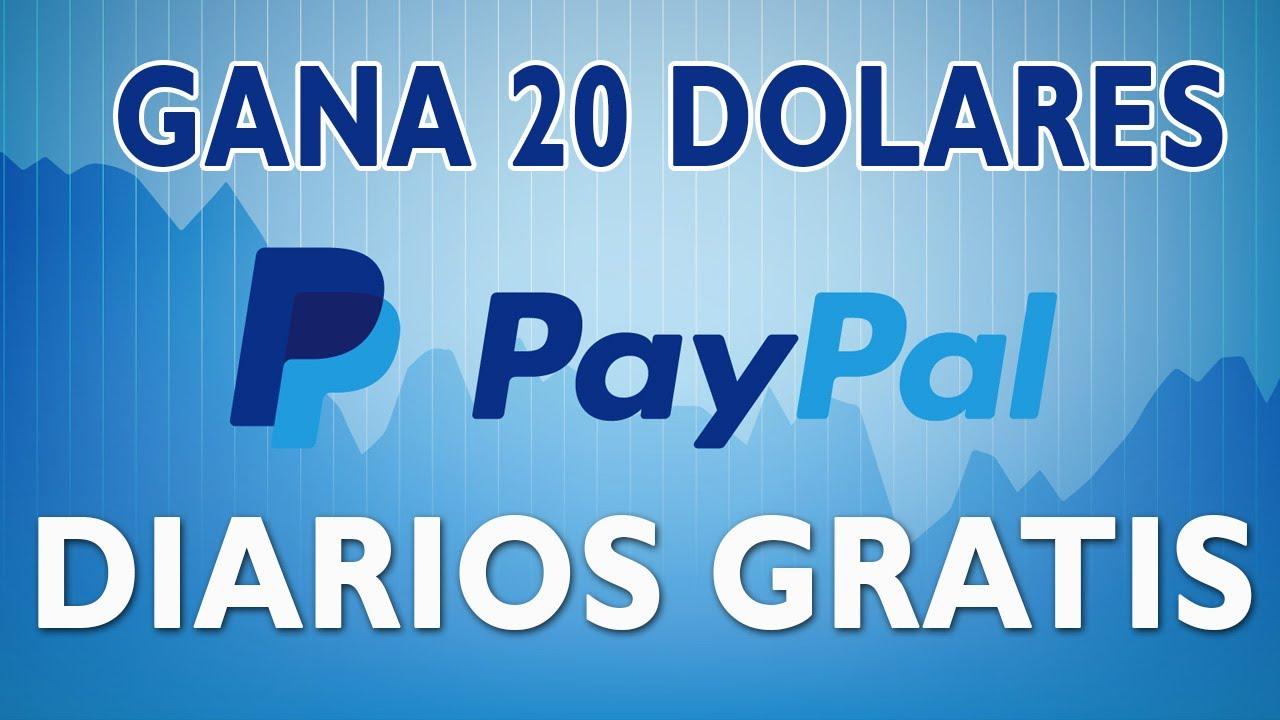 Ganar 20 dolares diarios a paypal gratis