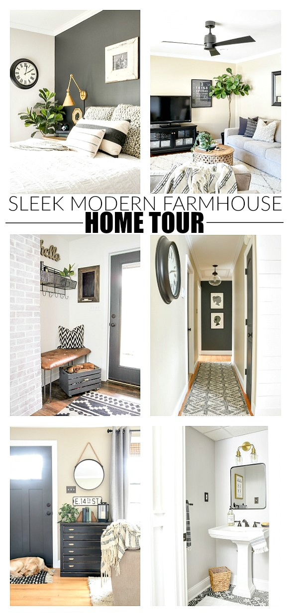 Sleek modern farmhouse home tour