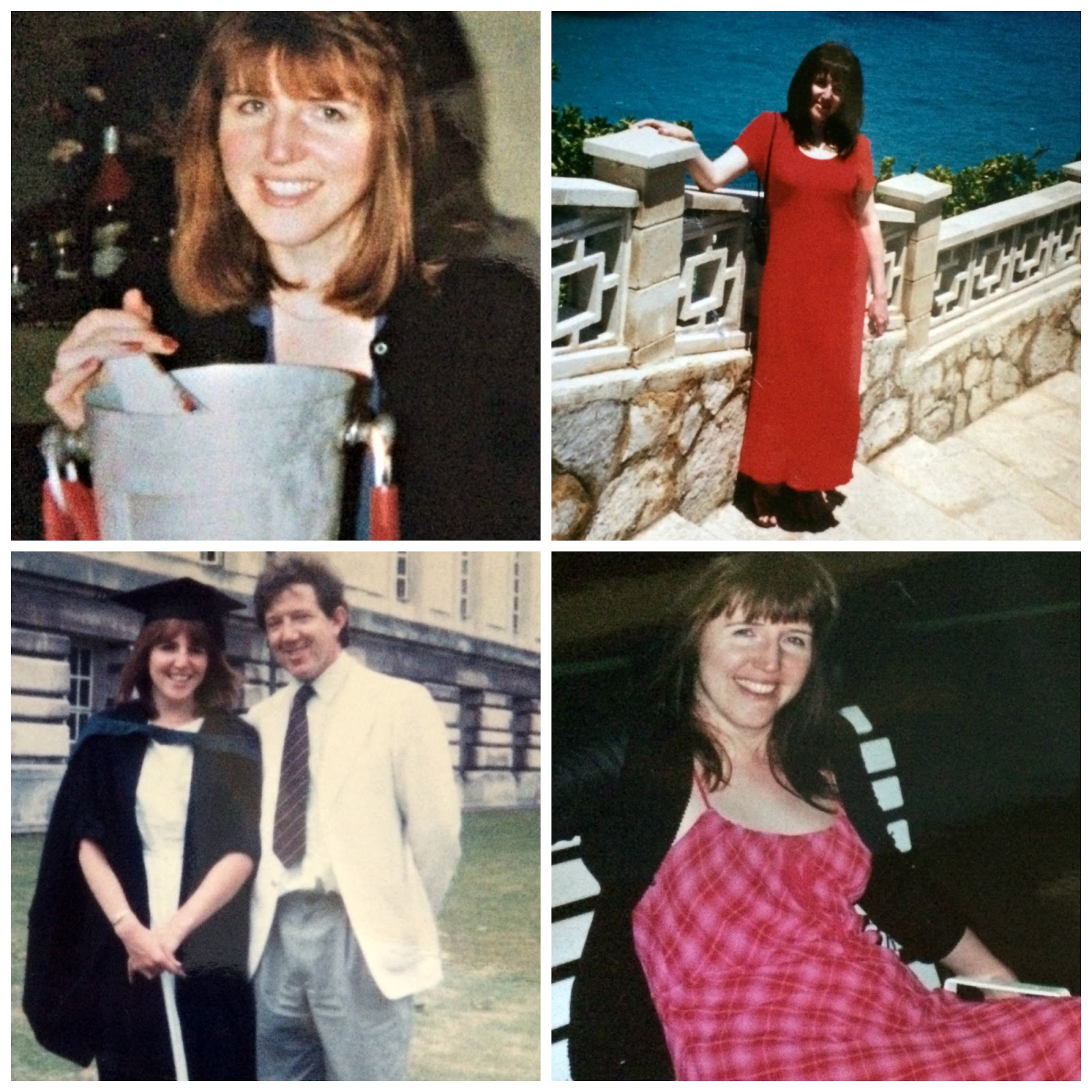 Collage of photos of Linda Hobbis