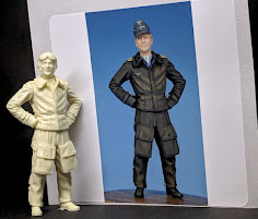 Construction Review: 1/32nd scale WWII German Fighter Pilot (late war leather flight suit) from Ult