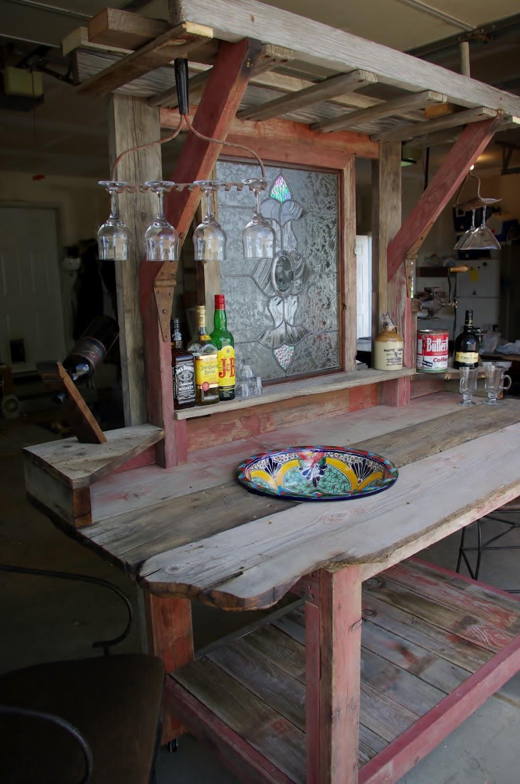 Reclaimed Rustics Barn Wood Patio Bar