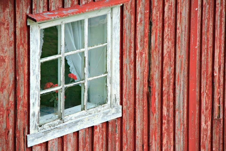 Detalle de casa en Islas Lofoten.