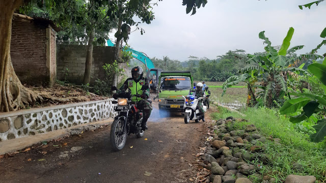 Dengan Bersepeda Motor, Dandim Cek Bakal Lokasi TMMD Sengkuyung Tahap II