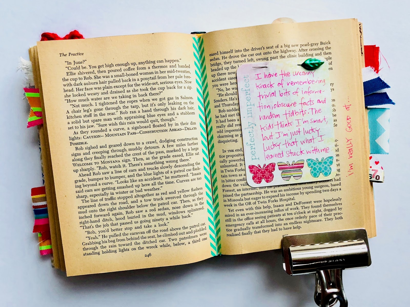 #lists #altered book #upcycle #book #art journal #journaling #list challenge #5 years from now #challenge