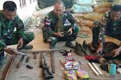 Satgas Pamtas Kostrad Amankan 1 Pucuk Senjata dari Kelompok KST di Papua