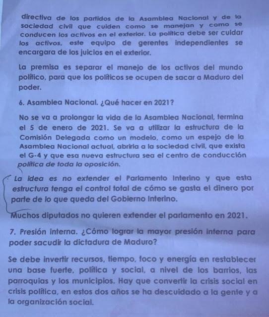 g4 propone eliminar a Guaidó