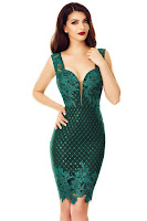 Rochie Ophelia Verde Smarald