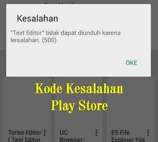 Cara mengatasi Kode Kesalahan Play Store saat Unduh/Update Aplikasi