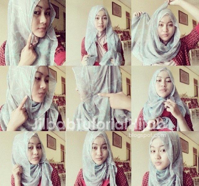Tutorial berikut ini berisikan beberapa  Tutorial Cara Hijab Pashmina Simple