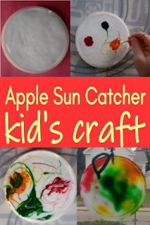 Apple Sun Catcher kid's craft
