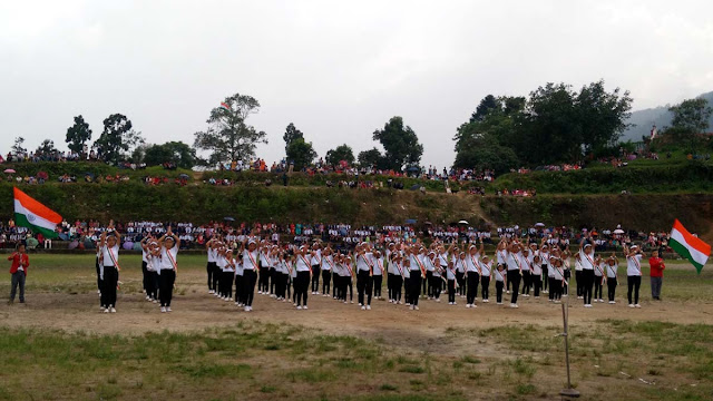 Drill display at Independence Day 2018 in Mungpoo