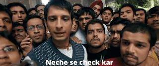 neche se check kar | 3 idiots meme templates