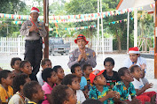 Binmas Noken Polri Gandeng Tim Volunteer Beri Sentuhan Anak-Anak Kwamki Narama