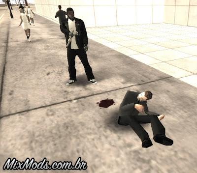 novas animações de morte gta