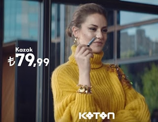 fahriye evcen sarı triko kazak