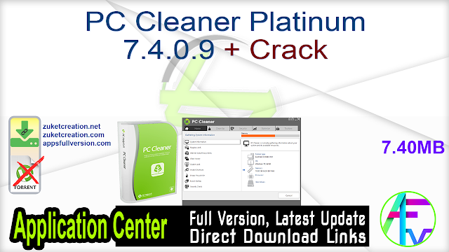 PC Cleaner Platinum 7.4.0.9 + Crack