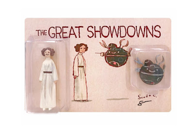 Designer Con 2019 Exclusive The Great Showdowns Star Wars: A New Hope Princess Leia Resin Figure Set by Scott C x DKE Toys