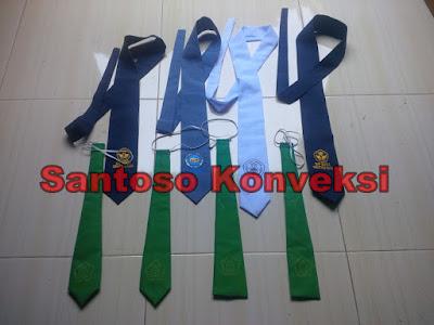jual dasi seragam sekolah SMP SMA logo bordir