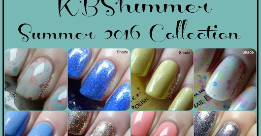 KBShimmer Summer 2016 Collection - Swatches and Review         |          Pointless Cafe